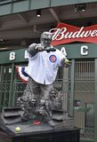 Harry Caray Statue. This is a Fall picture of the Chicago Cubs iconic broadcaster Harry Caray, the state is located outside the center Field entrance to the Stock Photos