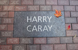 Harry Caray Tribute Stone at Wrigley Field Stock Image