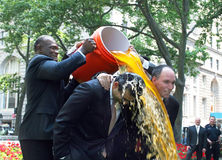 Harry Carson gives Gatorade shower Stock Images