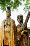 Harry et Mary Lake Statue au débouché tropical de noisetier d'Australie de fermes image stock