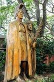 Harry et Mary Lake Statue au débouché tropical de noisetier d'Australie de fermes images stock