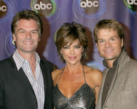 Harry Hamlin,Lisa Rinna. Harry Hamlin Lisa Rinna Louis Van Amstel ABC TV TCA Party The Wind Tunnel Pasadena, CA January 21, 2006 Royalty Free Stock Images