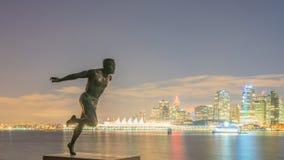 Harry Jerome miasta i zabytku nocy widok zdjęcie stock