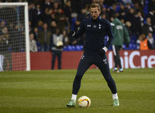 Harry Kane. Football player pictured prior to the UEFA Europa League round of 16 game between Tottenham Hotspur and Borussia Dortmund on March 17, 2016 at White stock image
