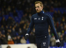 Harry Kane. Football player pictured prior to the UEFA Europa League round of 16 game between Tottenham Hotspur and Borussia Dortmund on March 17, 2016 at White Stock Images