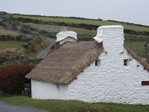 Harry Kelly's Cottage. At Cregneash Village on the Isle of Man. This dates back to the early 18th century Stock Photography