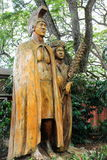 Harry and Mary Lake Statue at Tropical Farms Macadamia Nut Outlet. Honolulu, Hawaii, USA - May 29, 2016: Harry and Mary Lake Statue at Tropical Farms Macadamia Stock Images