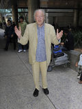 Harry Potter actor Michael Gambon at LAX airport Stock Image