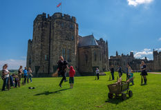Harry Potter Broomstick training at Alnwick Castle Royalty Free Stock Photos