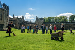 Harry Potter Broomstick training at Alnwick Castle Royalty Free Stock Photography