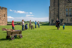 Harry Potter Broomstick training at Alnwick Castle Stock Photography