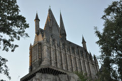 Harry Potter Castle in Universal Orlando Royalty Free Stock Photos