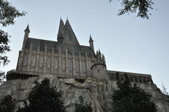 Harry Potter Castle in Universal Orlando Stock Image