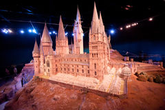 Harry Potter Castle at Warner Bros Studio Tour London Royalty Free Stock Images
