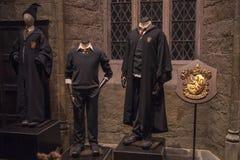 Harry Potter Costumes på Warner Bros studior arkivfoton