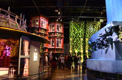Harry Potter exhibition, Warner Bros studio. London, UK - 21st September 2012: Tourists viewing the Harry Potter exhibition at Warner Bros. studio tour, London Stock Photo