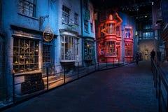 Harry Potter filmuppsättning, Diagon gränd royaltyfria foton