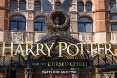 Harry Potter och den fördömda barnshowen royaltyfria bilder