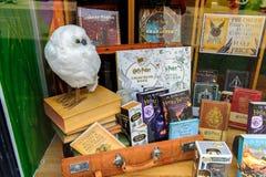 Harry Potter shoppar royaltyfria foton