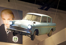 Harry Potter Studio Tour: Flugauto Stockbild