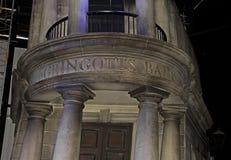 Harry Potter Studio Tour: Gringotts bank arkivfoton