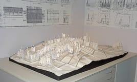 Harry Potter Studio Tour: Modelo del pueblo de Hogsmeade Imagen de archivo libre de regalías