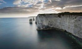 Harry Rocks idoso, costa jurássico, Dorset imagem de stock