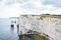 Harry Rocks idoso, Dorset, Reino Unido imagens de stock royalty free