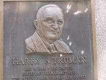 Harry S. Truman monument royalty free stock photo