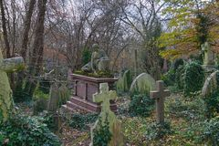 Harry Thornton Piano Grave Highgate imagenes de archivo