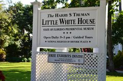 Harry Truman Little White House Key västra Florida Arkivbilder