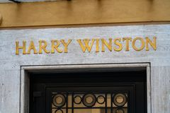 Harry Winston lagertecken royaltyfri fotografi