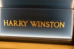 Harry Winston lagertecken royaltyfri foto