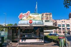 Harrys Cafe de Wheels, vendedor icónico de la empanada del contador-servicio Fotos de archivo libres de regalías