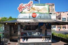 Harrys Cafe de Wheels, vendedor icónico de la empanada del contador-servicio Fotografía de archivo