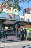 Harrys Cafe de Wheels, venditore iconico della torta di contro-servizio Immagine Stock Libera da Diritti