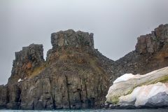 Cliffs, glaciers and snowfields Rudolf island Royalty Free Stock Images