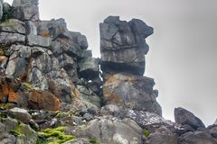 Cliffs, glaciers and snowfields Rudolf island Royalty Free Stock Photos