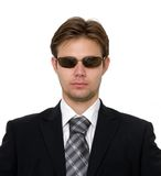 Harsh businessman Stock Images