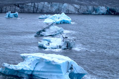 Harsh glaciers of Arctic. Live glacier, ablation Royalty Free Stock Photo