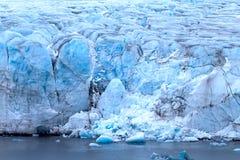 Harsh glaciers of Arctic. Live glacier Royalty Free Stock Photo