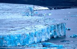 Harsh glaciers of Arctic. Live glacier Stock Image