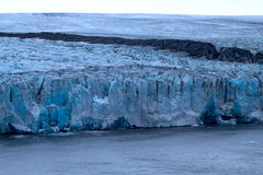 Harsh glaciers of Arctic. Live glacier Royalty Free Stock Images