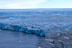 Harsh glaciers of Arctic. Live glacier Royalty Free Stock Photos