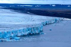Harsh glaciers of Arctic. Live glacier Royalty Free Stock Image