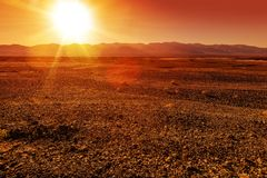 Harsh Landscape Royalty Free Stock Photography