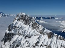 Harsh mountain peak next to the Titlis Royalty Free Stock Images