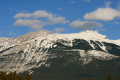 Harsh rocky mountains, canada. Jasper national park, alberta, canada, good sunny weather Stock Images