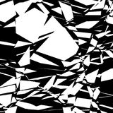 Harsh rough texture. Geometric abstract illustration with disarr Stock Photography