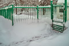 Harsh winter with snow in Bucharest, capital of Romania Stock Photos